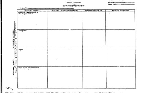 Primeira Matriz da PCI desenvolvida para a USAID